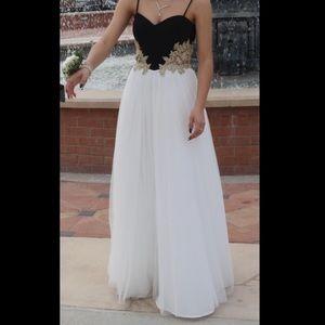 White petite prom dress